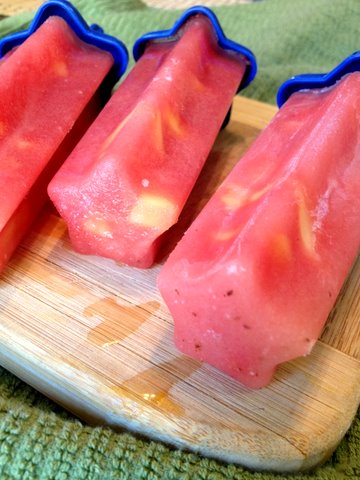 Watermelon Pineapple Popsicles